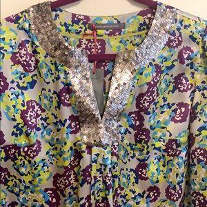 Boden Limted Edition silk Deco blouse
